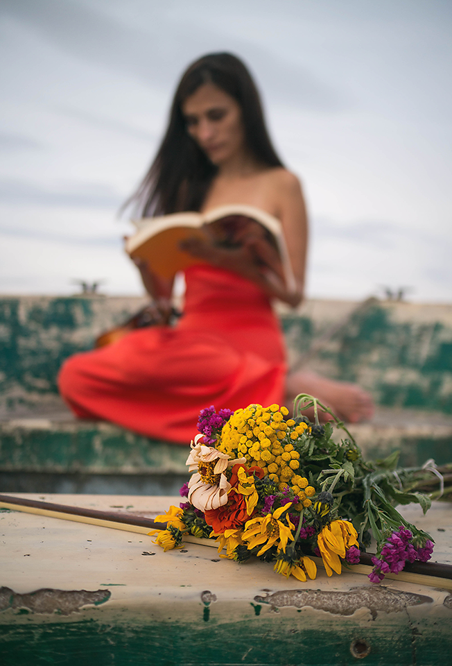Flowers and art